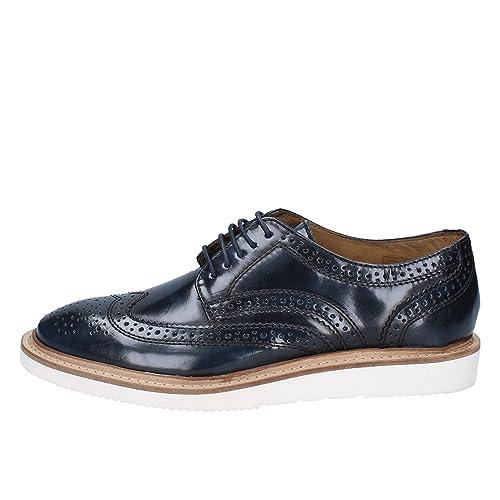 brand new 0809f bdd95 Base London Elegante Schuhe Herren glänzendem Leder blau ...