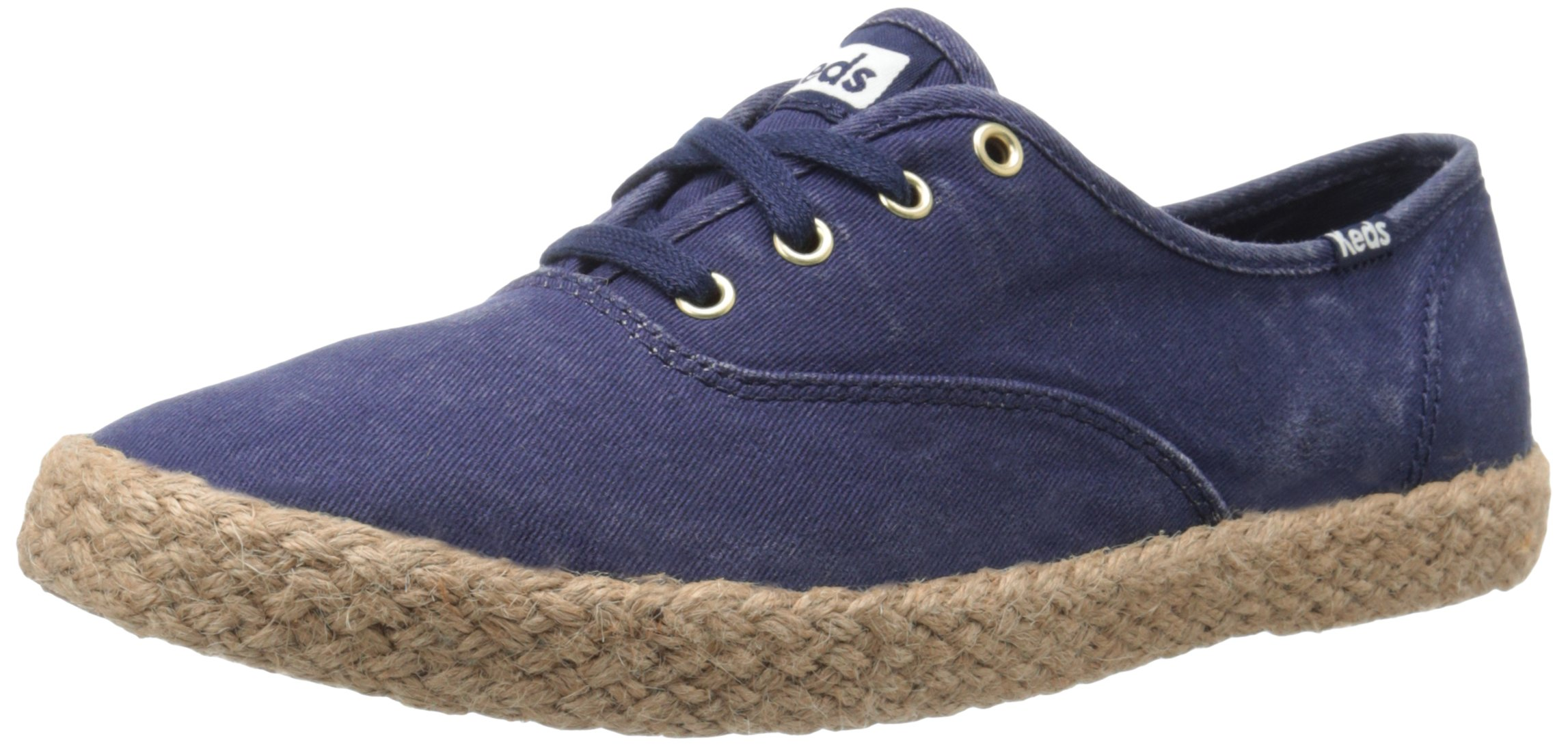 Keds Women's Champion Washed Jute Fashion Sneaker, Peacoat Navy, 7 M US