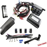 Jeep JK Control Box - Electronic 6 Relay System Module - Wiring Harness Kit With FREE 4 Rocker Switch Mount - Power up to 6 Accessories and LED Off Road Light Bars