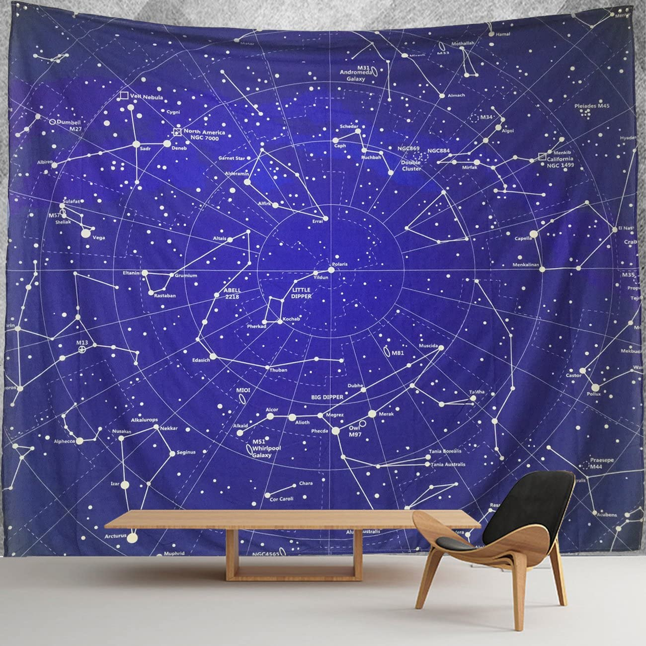 HWMR 12 Constellations Map Wall Decor Universe Galaxy Space Star Constellation Tapestry Wall Hanging Purple Light-Weight Polyester Fabric Wall Collage Dorm Beach Bedroom Throw Tapestries 60x40 Inch