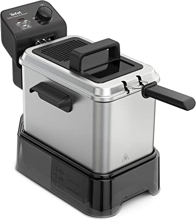 Tefal Easy Clean & Store - Freidora de aceite 3.5 litros/1 kg comida, con depósito de aceite reutilizable, 190 C, termostato ajustable, cesta opción escurrido, resistencia sumergida, fácil limpieza: Amazon.es: Hogar