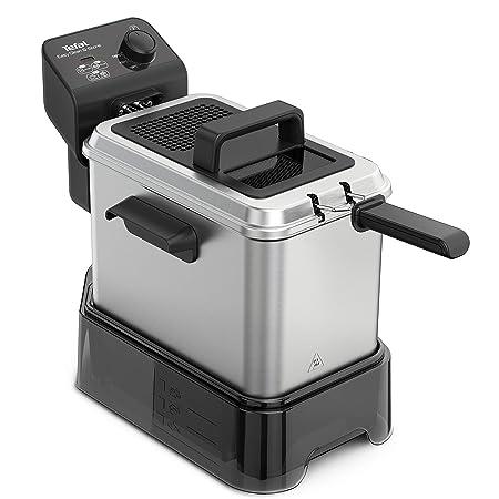 Tefal Easy Clean & Store - Freidora de aceite 3.5 litros/1 kg comida, con depósito de aceite reutilizable, 190 C, termostato ajustable, cesta opción ...