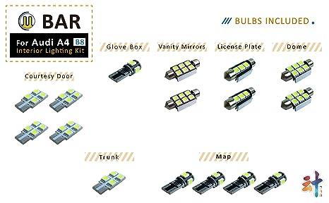 LED indicador luces adaptador iluminación de la matrícula luminarias para audi a4 b8