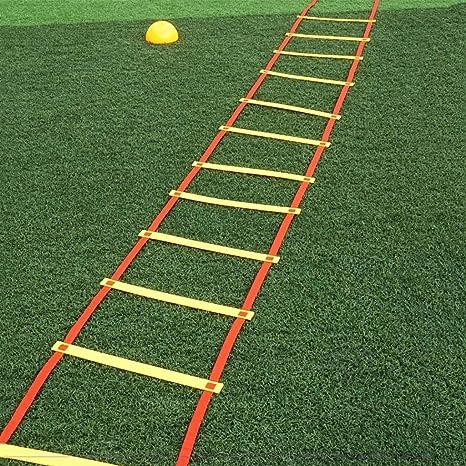 Xin Speed Agility Ladder 6M Escalera de Entrenamiento de 12 peldaños para fútbol Speed Basketball Fútbol Fitness Pies Entrenamiento con Bolsa de Transporte (Color : B): Amazon.es: Deportes y aire libre