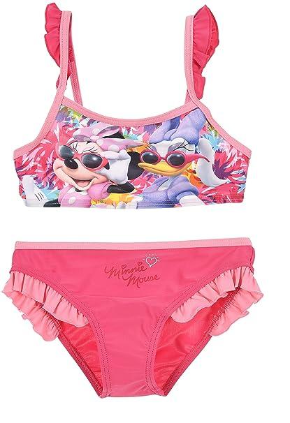 f5e96d4a62 Minnie Mouse Bambina Costume da Bagno Due Pezzi: Amazon.it: Abbigliamento