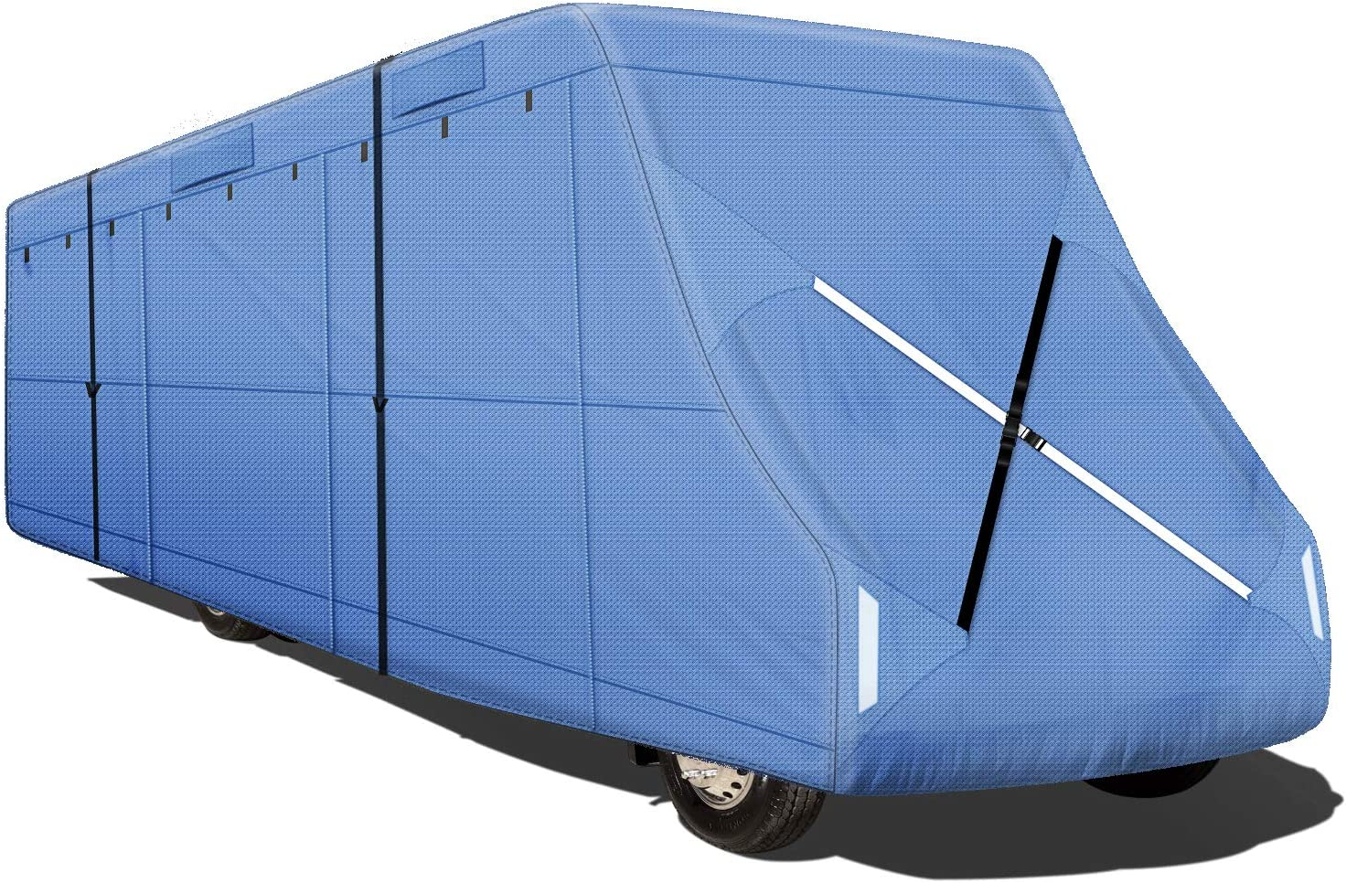 Leader Accessories Easy Setup Class C Cover Windproof Upgrade RV Cover Fits 35-38 Motorhome with Adhesive Repair Patch