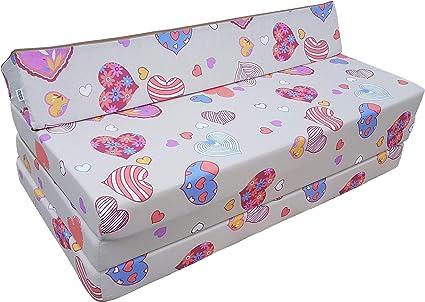 Natalia Spzoo Colchón plegable cama de invitados forma de sillón sofá de espuma 200 x 120 cm (C901)