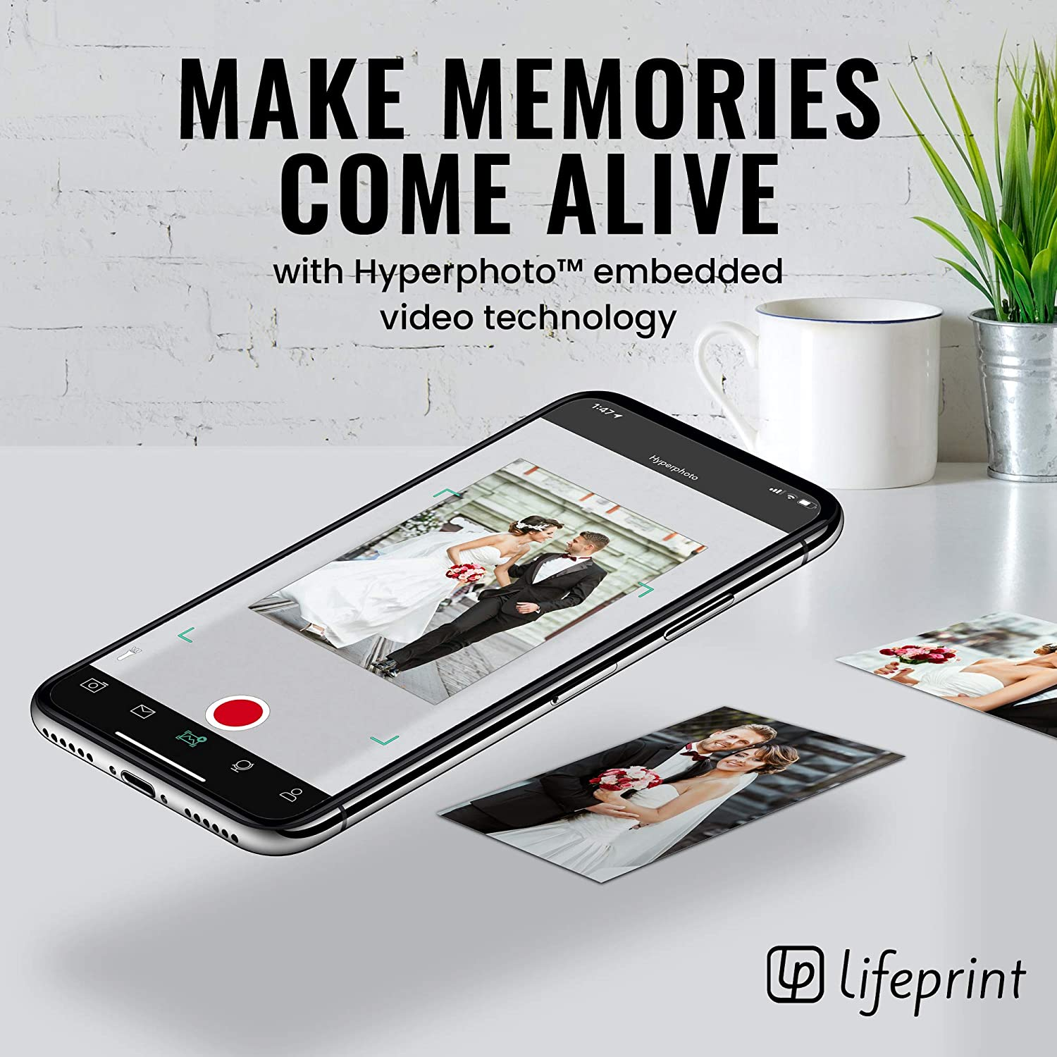 2×3 Portable Photo & Video Lifeprint Printer for iPhone and Android