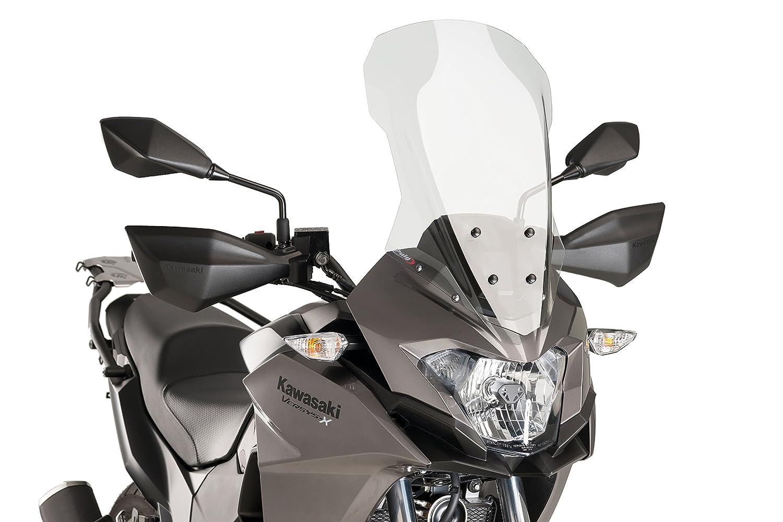 Puig 9710W Touring Screen for Kawasaki Versys-X 300, Transparent Motoplastic S.A.