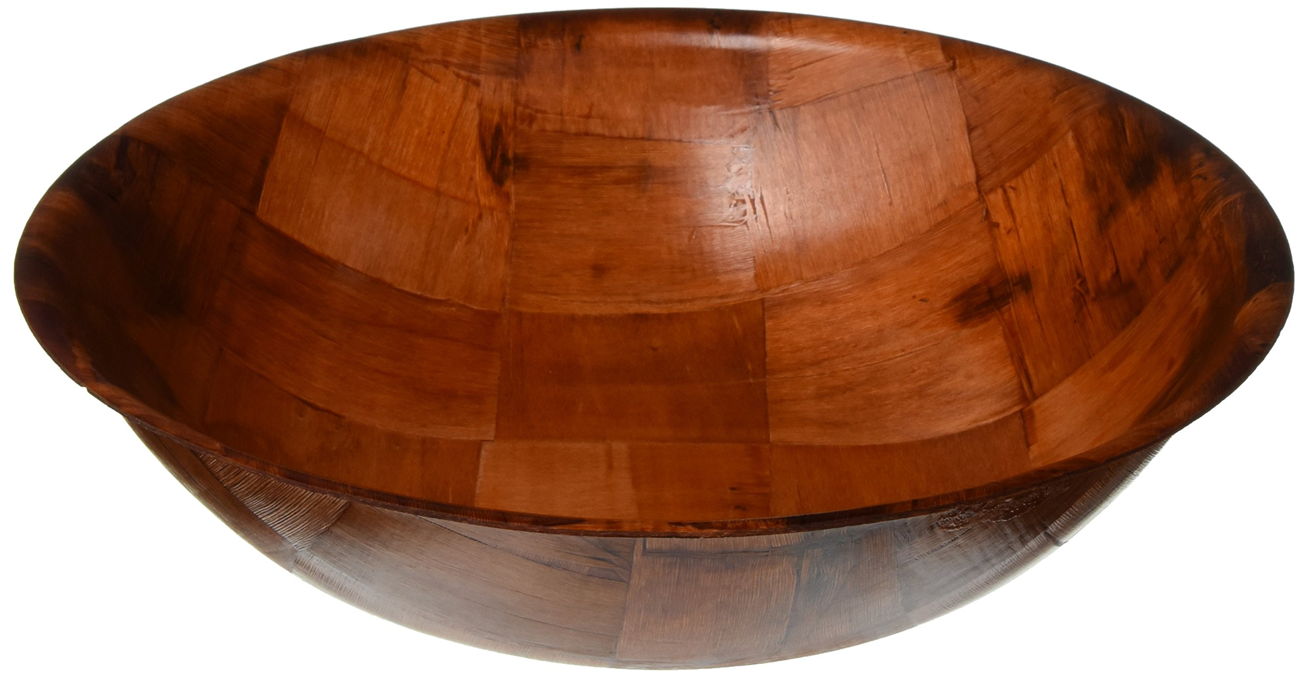 Winco WWB-12 Wooden Woven Salad Bowl, 12-Inch