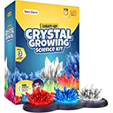 Crystal Growing Kit for Kids + light-up Stand - Science Experiments for Kids - Crystal Science Kits - Craft Stuff Toys for Te