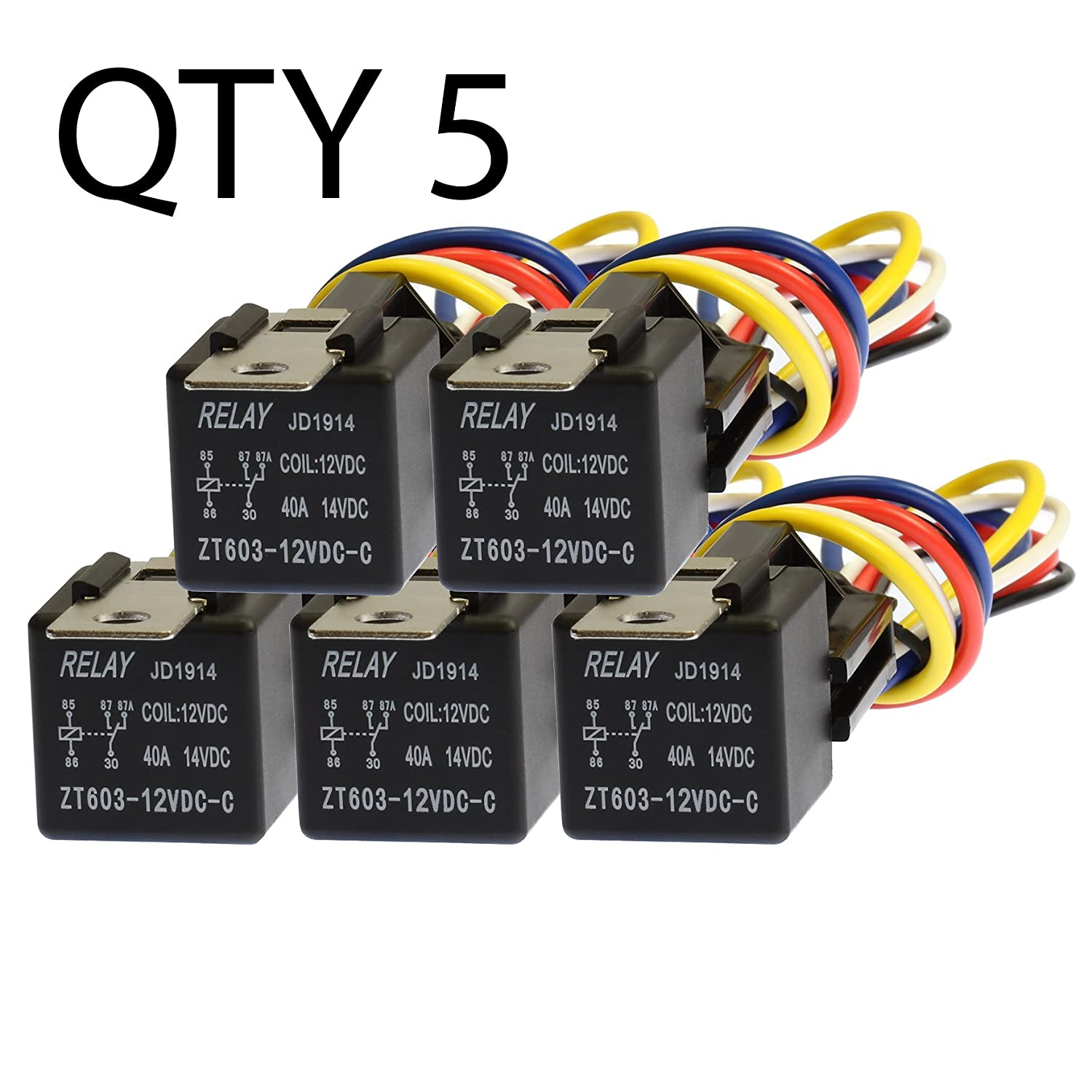 Amazon.com: VOODOO 5 Pack 30/40 Amp Relay Wiring Harness ... on