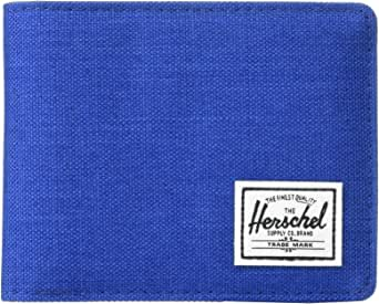 Herschel Men's Hank RFID Bi-fold Wallet, Monaco blue crosshatch, One Size