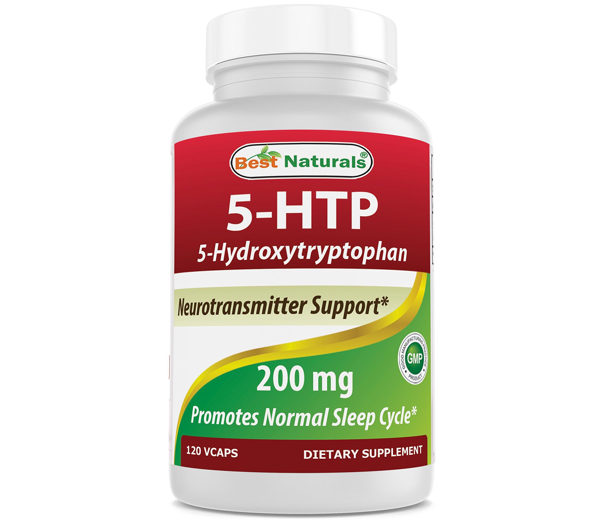 Best Naturals 5-HTP 200 mg 120 Veggie Capsules