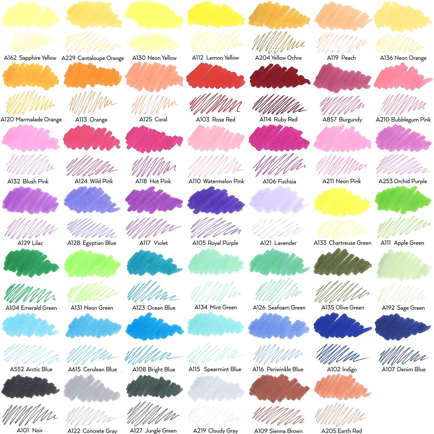 Journaling ARTEZA TwiMarkers Brush Pens Set of 100 Colors Drawing for Coloring with Fine /& Brush Tips Dual Tip Sketch Markers Sketching Calligraphy Hand Lettering /& Painting Doodling