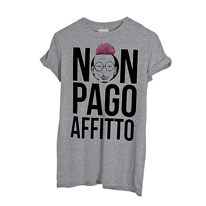 12162e2e648f Su abbonamento o per partire senza valigia  in affitto abiti da ... MUSH  T-Shirt Non Pago AFFITTO Bello Figo - Famosi by Dress Your Style