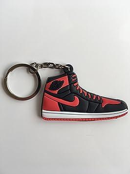 SneakerKeychainsNY Jordan Retro 1 OG Bred/Banned Zapatillas ...