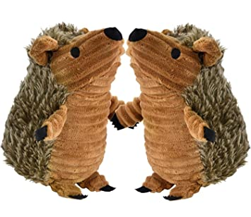 Legendog Hedgehog Dog Toys, 2 Pcs Dog Squeaky Toys Stuffed Hedgehog Dog  Chew Toys Plush