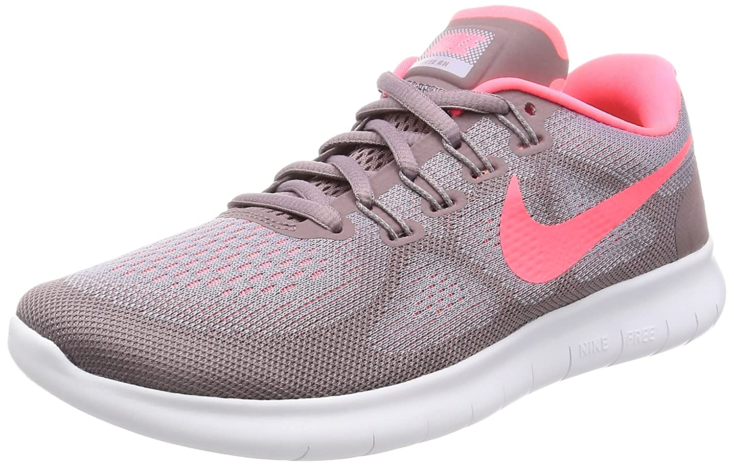 hot sale online 52eea ade76 Nike Women s Free Rn 2017 Running Shoes, (Provence Purple Taupe Grey Ice  Peach Hot Punch), 7 UK 41 EU  Amazon.co.uk  Shoes   Bags
