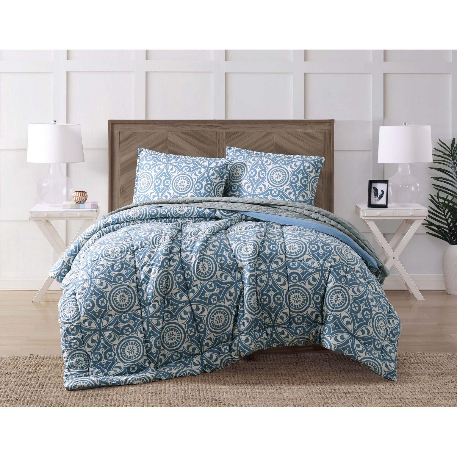 Brooklyn Loom CS2243FQ4-1500 Pine Harbor 4 Piece Queen Comforter Set, Full