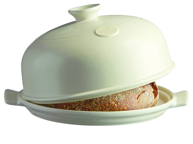 """Emile Henry 505508 Bread Baker, 13.2 x 11.2 x 7"""", Linen"""