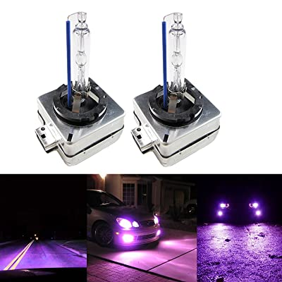 Xotic Tech 12000K Purple D1S D1R D1C OEM Replacement HID Xenon Headlight Low Beam: Automotive