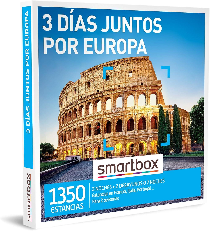 SMARTBOX - Caja Regalo - 3 días Juntos por Europa - Idea de Regalo - 2 Noches con Desayuno o 2 Noches para 2 Personas