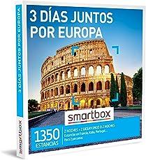 SMARTBOX - Caja Regalo hombre mujer pareja idea de regalo - 3 días juntos por Europa - 1350 estancias en hoteles de 3* y 4*, alojamientos rurales, villas y mucho más en Europa