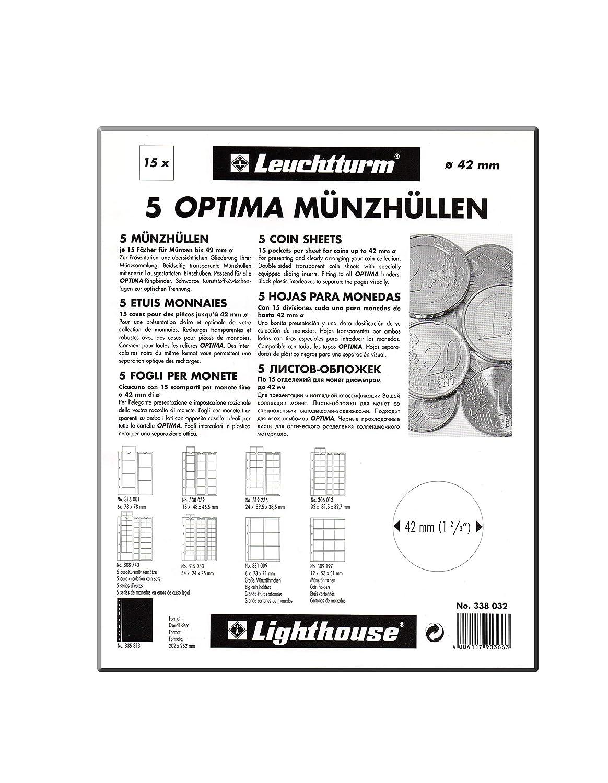 Leuchtturm OPTIMAM24 5 M/ünzh/üllen 24 M/ünzen bis 34 mm
