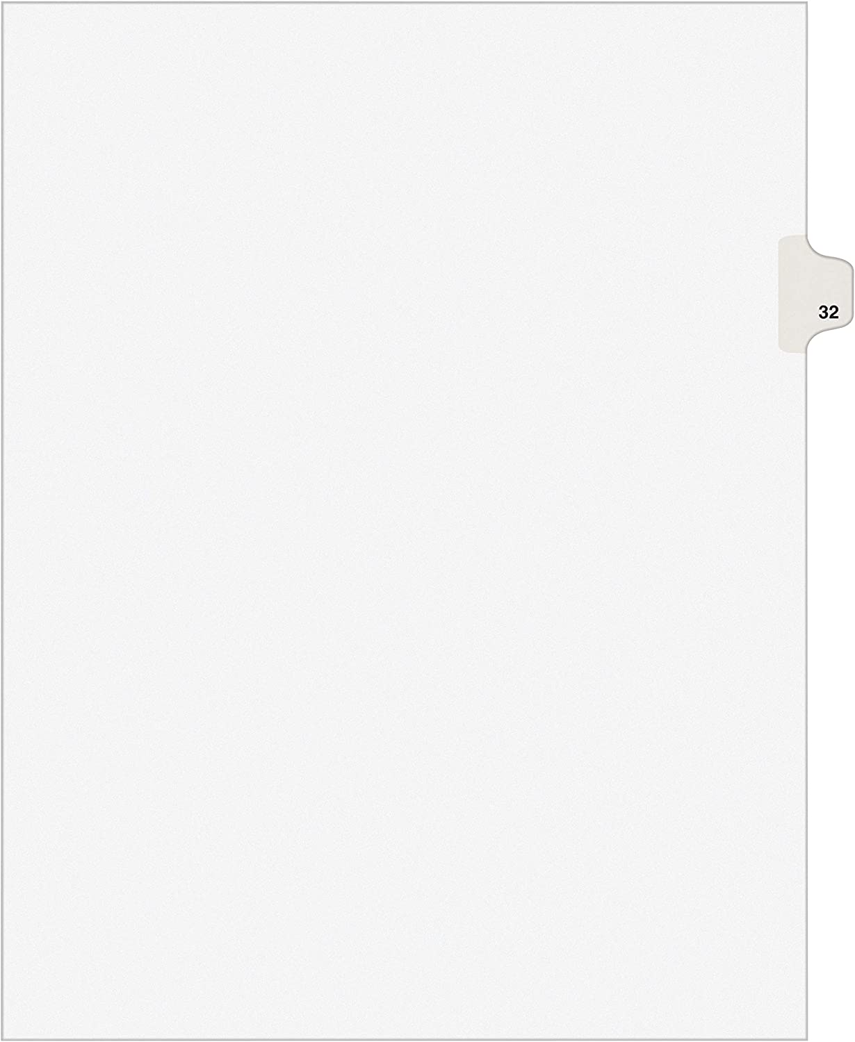Avery Legal Dividers, Premium Individual Tab Titles, Letter Size, Side Tabs, 32, Pack of 25 (01032)