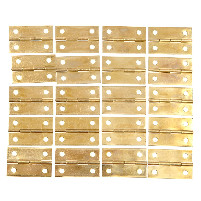 20Piezas Bronce Antiguo 34x22mm Mini bisagra de caja de joyas de casa de mu/ñecas vitrinas con bisagras
