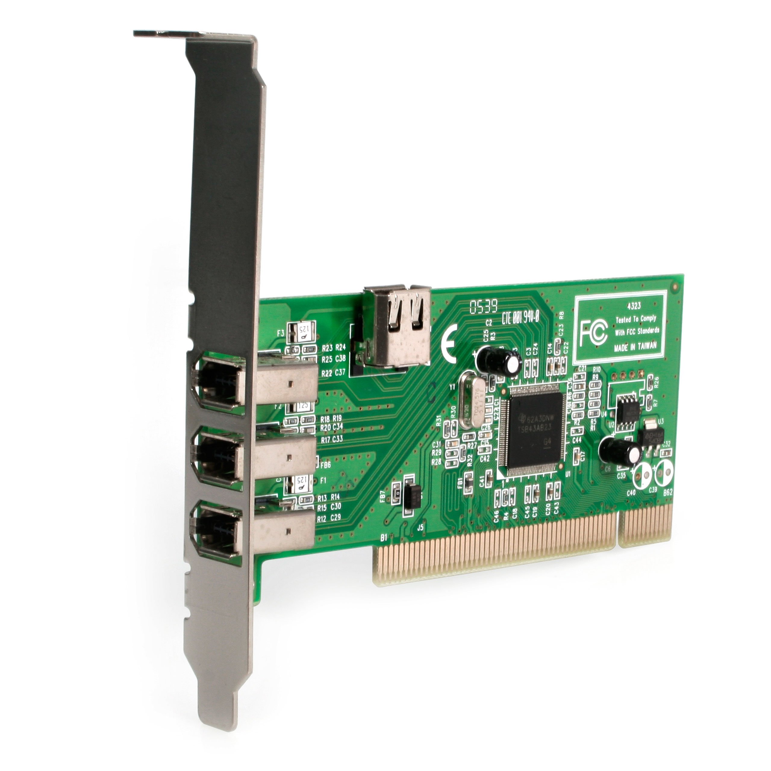 4 port PCI 1394a FireWire Adapter Card - 3 External 1 Internal by StarTech (Image #2)