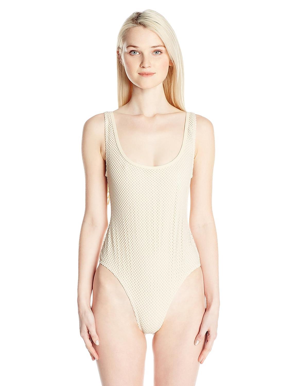 リップカールWomen 's JoyrideメッシュOne Piece Swimsuit withフリンジon Back B01I5T0X6I S|ナチュラル