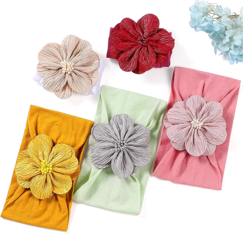 Tacobear Diademas Bebe Ni/ñas Nudo Banda Flores Cintas de Pelo Cabeza El/ástica Turbante algod/ón Venda de Pelo para Bebe Ni/ñas Accesorios para el Cabello