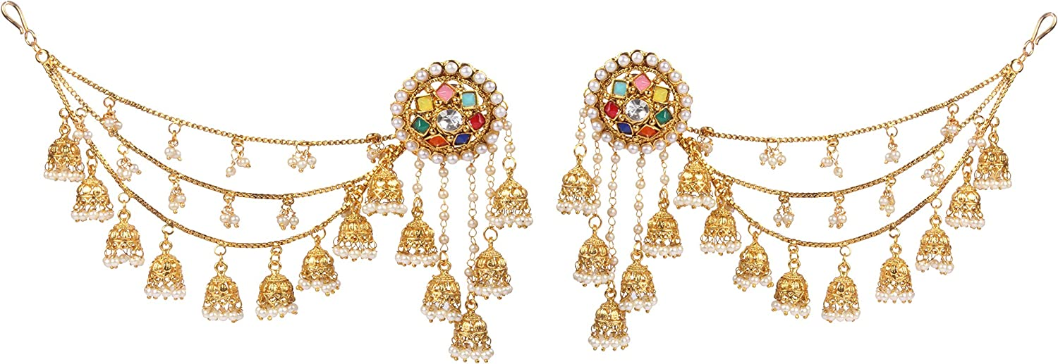 Shiv/_Collection Fabulaus Amazing Style Gold Plated Indian Polki Earrings Partywear Jewellery