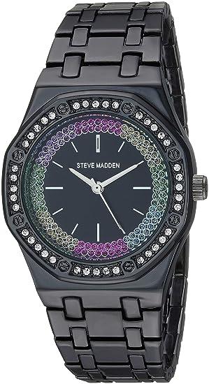 Reloj esRelojes Steve Madden Para Smw177bkAmazon shrxtQCd