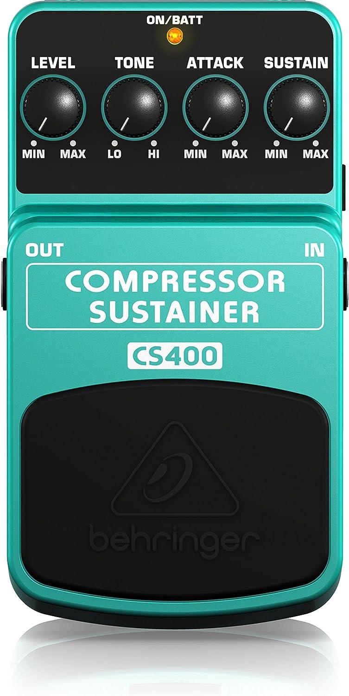 Behringer Compressor/Sustainer CS400 último Dinámica Pedal