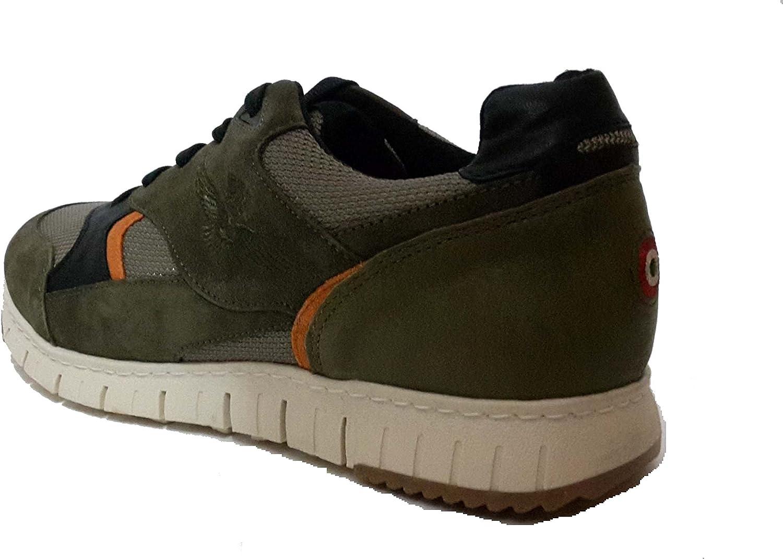 Aeronautica Militare - Zapatillas de Sintético para Hombre Verde Militar, Color, Talla 44 EU: Amazon.es: Zapatos y complementos
