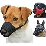 CollarDirect Adjustable Dog Muzzle Small Medium Large Dogs Set 2PCS Soft Breathable Nylon Safety Dog Mouth Cover Anti…