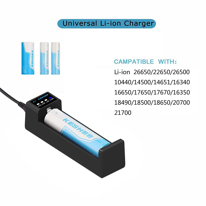 Amazon.com: 18650 Cargador de batería, universal cargador de ...
