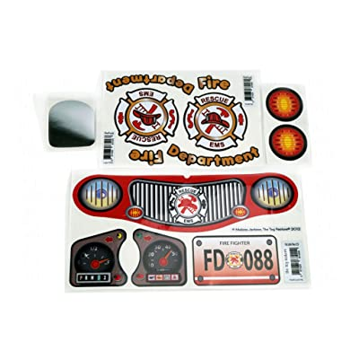 Firetruck Replacement Decals Stickers Fits Little Tikes Cozy Coupe II Car Toy: Toys & Games