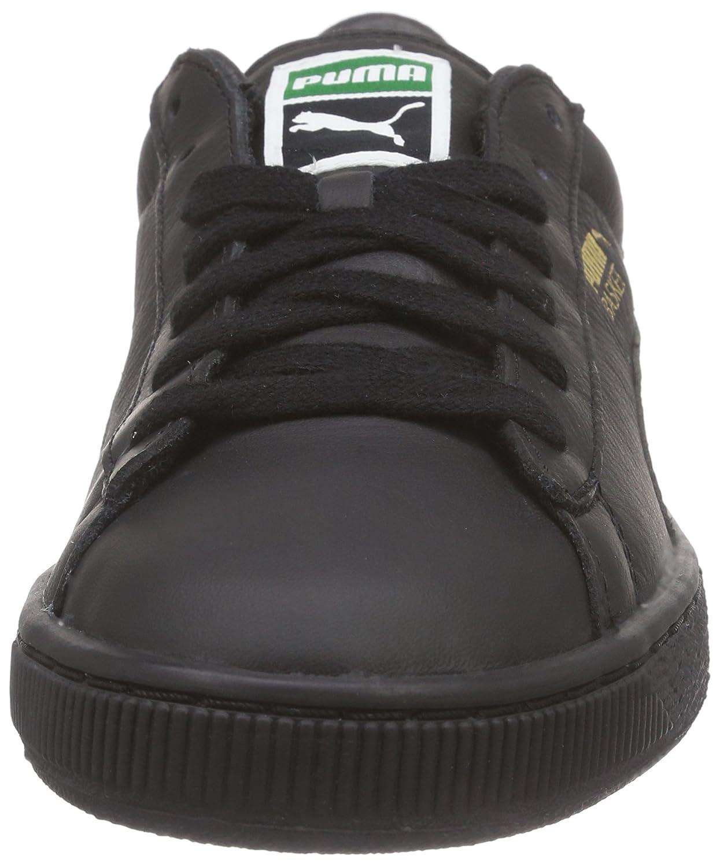 Puma Classic LFS, Baskets Basses Mixte Adulte,Negro - Noir (Black/Team Gold), 41