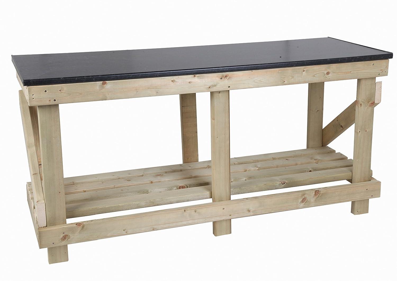 mc Holz Products Ltd 6 ft Schwerlast Werkbank mit Küche Stil Top ...