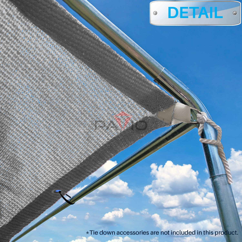 Patio Paradise 14 x 34 Straight Edge Sun Shade Sail, Light Grey Rectangle Outdoor Shade Cloth Pergola Cover UV Block Fabric – Custom 3 Year Warrenty