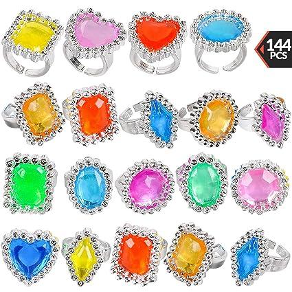 amazon com plastic rings 144 pieces bulk plastic rings for