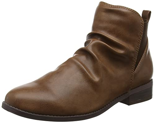 38 Marron Head Beige Femme Piaa Chelsea EU Heels Boots Over w8xO8TPY