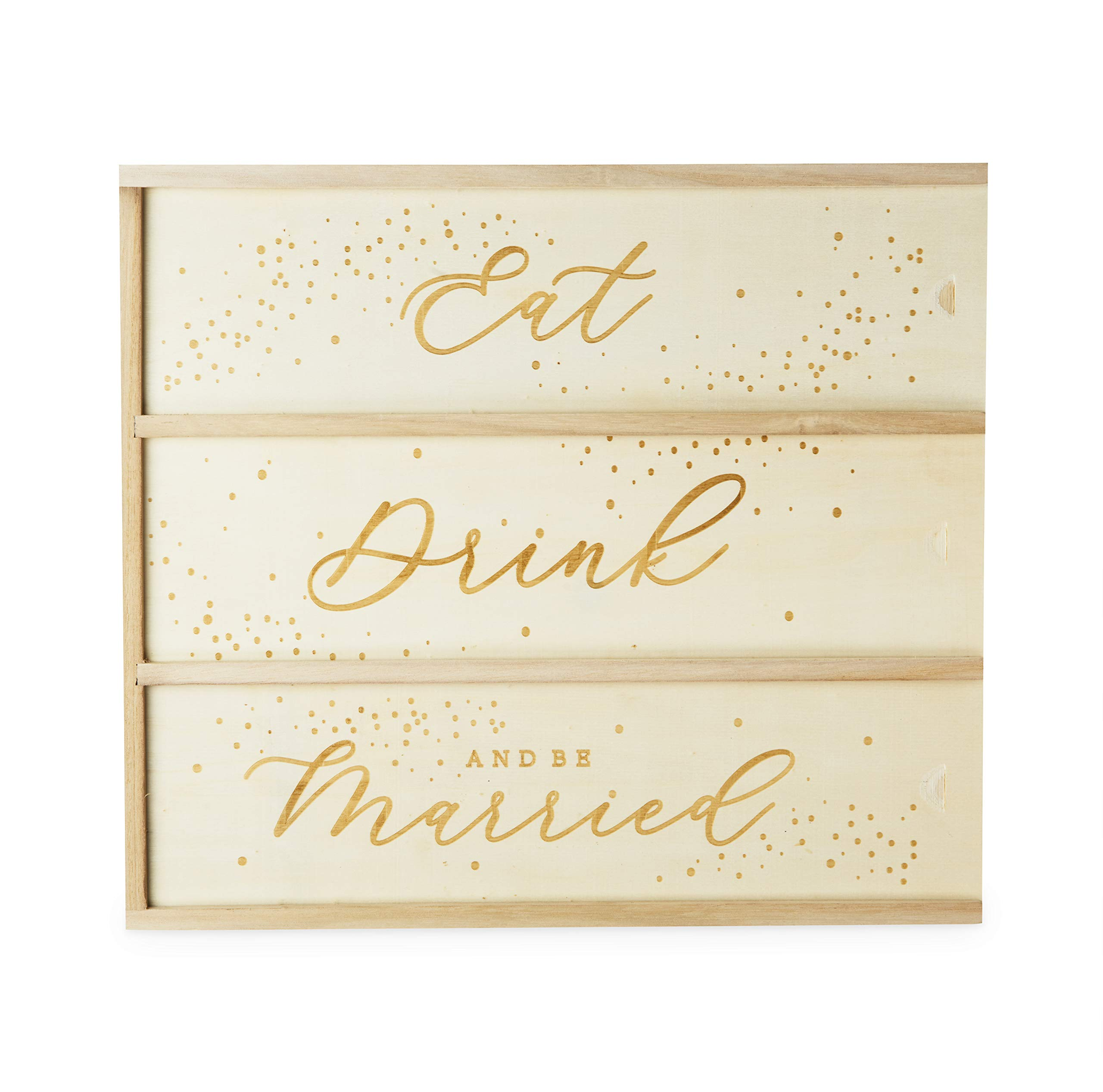 Twine 5607 Garden Party: Eat, Drink & Be Married 3 Bottle Wine Box, One Size, by Twine (Image #1)