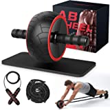 Ab Roller, Ab Wheel Exercise Equipment for Home Gym, Ab Roller Wheel for Abs Workout, Ab Machine with Knee Pad…