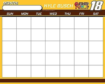 Amazoncom Nascar 18 Kyle Busch 16 X 20 Dry Erase Calendar New