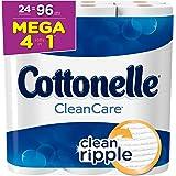Cottonelle Clean Care Toilet Paper, Bath Tissue, 24 Mega Toilet Paper Rolls